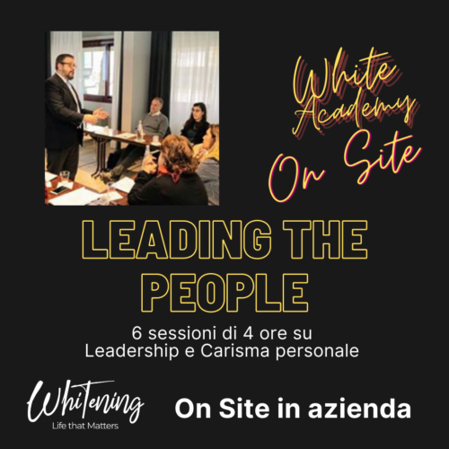 White Academy Lead - Percorso Completo OnSite